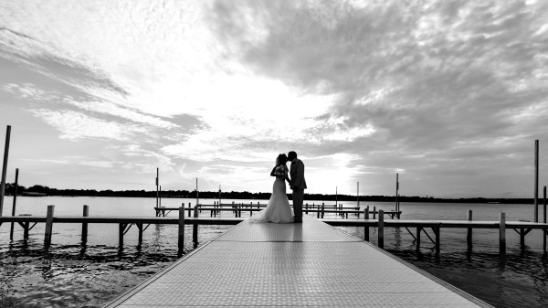 Wedding photography on the water